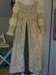 My Italian Renaissance dress in progress.
