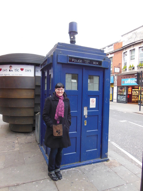 We didn't see the Doctor, but we did find the TARDIS!