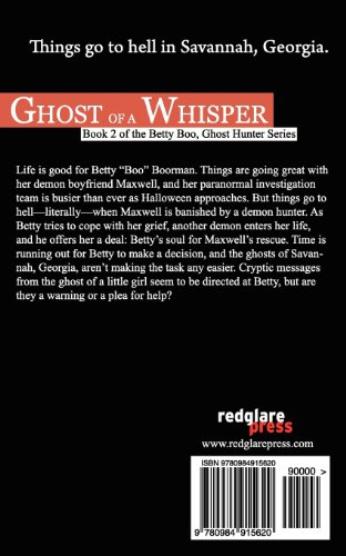 Ghost of a Whisper: Book 2 of the Betty Boo, Ghost Hunter Series